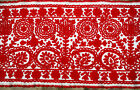 """Antique Traditional Hungarian/Transylvanian Embroidery Tablecloth  55x20.86"""""""