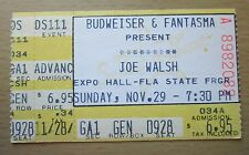 1987 JOE WALSH TAMPA CONCERT TICKET STUB THE EAGLES HOTEL CALIFORNIA 11/29/87