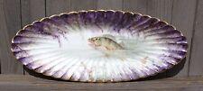 Antique 1888-1896 France HAVILAND FISH PLATTER Amazing Detail/Colors