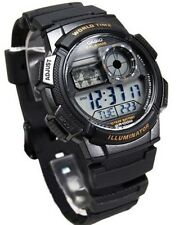 Casio AE-1000W-1A Resin Digital World Time Men's 100M Sports Alarm Watch AE1000W