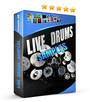 Live Drum Sounds 1350 Acoustic Samples Hip Hop Rock Pop Ableton Reason Fruity FL