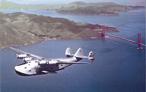 Pan American Airways B-314 airplane postcard Boeing flying boat