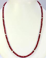 Rubinkette piedras preciosas cadena, collar, a 1 calidad, rubíes, rubinkette faceteados nuevo