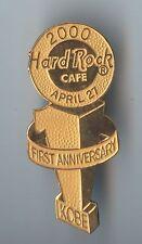 HTF !! Hard Rock Cafe Kobe Japan 1st Anniversary Pin
