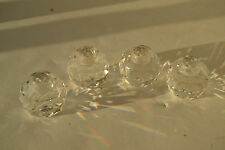 Set of 4 SWAROVSKI CRYSTAL ROUND BALL Candle Holders Lot