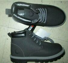 Akademiks Toddler Boys Size 13 Black Work School Uniform Lace-Up Boot G328