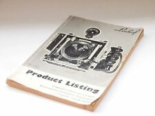 Linhof Product listing catalog 1.12.1976 book