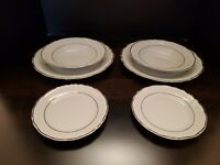 VTG Wawel Fine China Two 3 Piece Place Settings Casa Oro Pattern Made In Poland