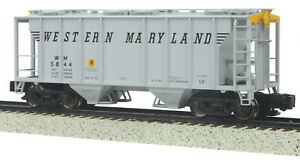 MTH S Gauge PS-2 Hopper Car Western Maryland  35-75049
