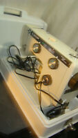 Vintage Riccar 707 Sewing Machine with foor pedal & case EC