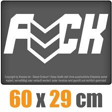 FUCK chf0026 bianco 60 x 30 cm adesivo lunotto posteriore auto AUTO LUNOTTO