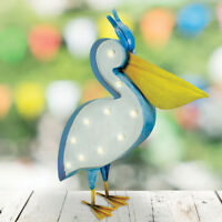Solar Power Outdoor LED Light Up Novelty Pelican Bird Figure | Garden Decoration
