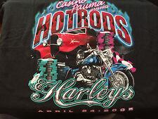 New listing Casino Pauma Hot Rod Harleys 4/24 2005 Tee T-Shirt Xl players club souvenir item