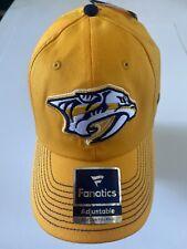 Nashville Predators Nhl Fanatics Brand Cap/Hat Adjustable One Size Fits Most Nwt