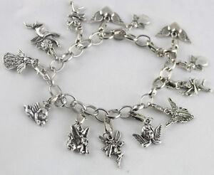 3 Pcs Tibetan silver angel fairy charm bracelets