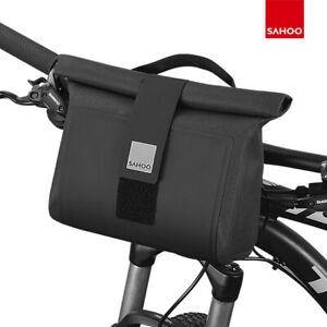 Sahoo Front Top Waterproof Bike Handlebar Bag Pannier Bicycle Black