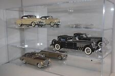 Acrylic Diecast Car Wall Mountable Display Case No Cars Holds 1/24 & 1/18th Cars