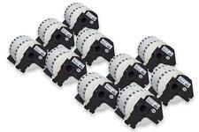 10x Rouleau Etiquettes Premium 62mm x 30,48m pour Brother P-touch QL-700