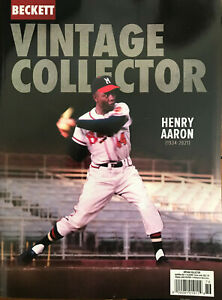 Used April/May 2021 Beckett Vintage Collector Price Guide Magazine W/ Hank Aaron