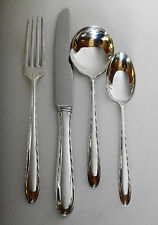 Towle Sterling Silver Flutes Silverware 4 Place Settings 20 Pieces 1941