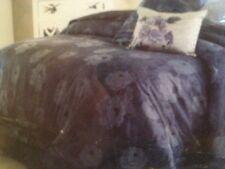CHARISMA queen 4PC DUVET SHAMS & BEDSKIRT SET AMELIA BLUE FLORAL COTTON JACQUARD