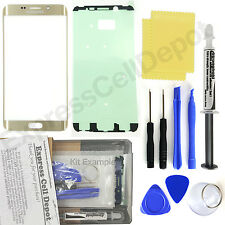 Gold Samsung Galaxy S6 Edge+ Plus G928 Replacement Front Screen Glass Repair Kit