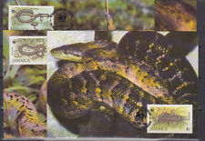 v1863 Jamaika/ WWF 1984 Schlangen  MiNr 591/94 I auf 4 MaxiCard
