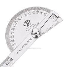 180 degrés Rapporteur d'Angle Règle de mesure Rotatif 10cm Inox Demi-rond