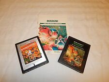 Berzerk with manual & Kangaroo Atari 2600 game cartridges ~Tested & Working~