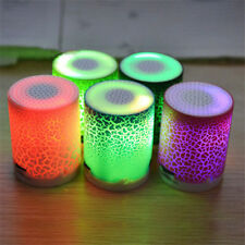 MINI MP3 Music Player White LED Speaker Sound Subwoofer WirelessTF USB Music