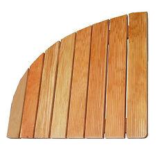 Pedana doccia cm 73x73 angolare in legno marino antiscivolo per piatto doccia