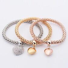 Fashion femmes 3Pcs or argent Rose Gold Bracelets Set Bijoux Bracelet en strass