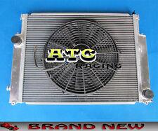 2 Core aluminum radiator & fan for BMW E36 M3 / Z3 /325TD /320 323 328 92-99 MT