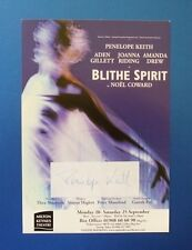 THEATRE FLYER BLYTHE SPIRIT SIGNED BY PENELOPE KEITH [ TO THE MANOR BORN ]