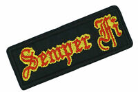 SEMPER FI PATCH Saying Embroidered Iron On / Sew On Patch