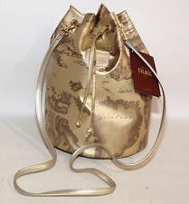 Prima Classe borsa sacca tracolla oro Alviero Martini originale secchiello