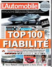 L'AUTOMOBILE MAGAZINE . N° 825 . fevrier 2015 . TOP 100 FIABILITE / J.P BELTOISE