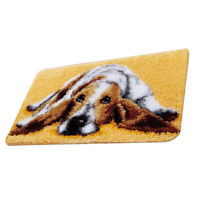 Cute Dog Latch Hook Rug Kits DIY Carpet Cushion Mat Embroidery Kits 58x40cm