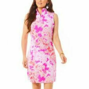 NWT IBKUL PASCHA PINK CORAL Sleeveless Mock Golf Tennis Dress - XS S M L & XL