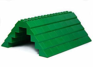 LEGO ROOF 5x12x16  GREEN  100 pieces Slopes Tiles 1x2 2x2 NEW house building