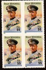 Scott 3330 55¢ Billy Mitchell Block of 4 MNH Free Shipping!!!