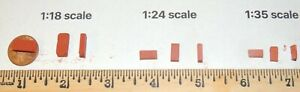 """LOT of 500 Red Model  Bricks-Scenery (Red Plaster)1;35 SCALE  (EACH 3/8' x1/8"""")"""