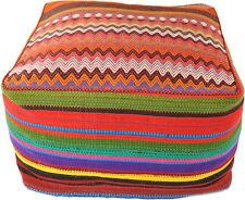 orient Kelim Pouf Coussins De Sol Coussin De Siège 100% Laine 60 60x35 cm