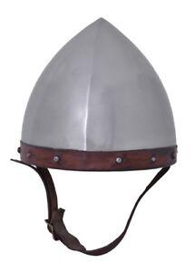 Mittelalterhelm Bogenschützenhelm 1,6mm Stahl mit Lederinlet