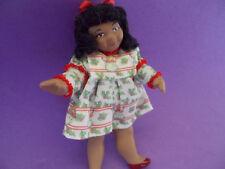 Dollhouse Doll 1:12 scale Black GirlChristmas Dress Gabriella De Carlo