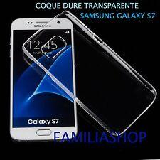 Housse étui pochette coque cristal dure rigide transparent samsung galaxy S7