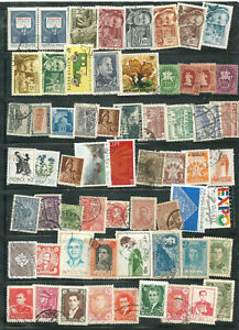 a large lot of mixed used world stamps starting with Hungary.