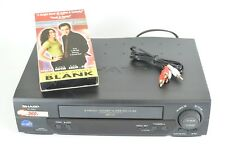 Sharp VCR VHS Player Movie VC A582 Black 4 Head Video Cassette Recorder Works