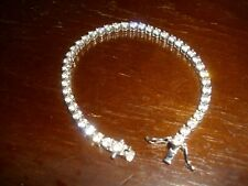 Schönes Diamonique Tennisarmband, Sterling Silber 925,  Zirkonia,  19 cm,