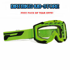 PROGRIP 3400 2017 MENACE MOTOCROSS MX GOGGLES GREEN WITH TEAR OFFS